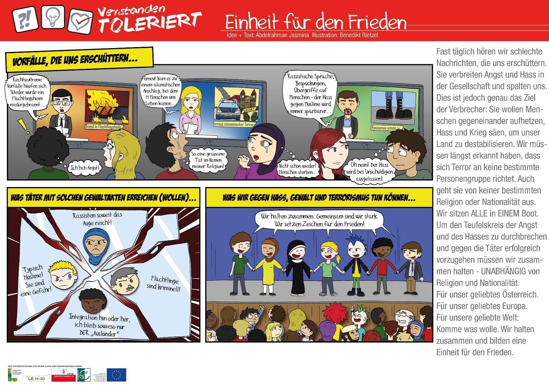 """Kooperationsprojekt """"Verstanden – Toleriert"""""""