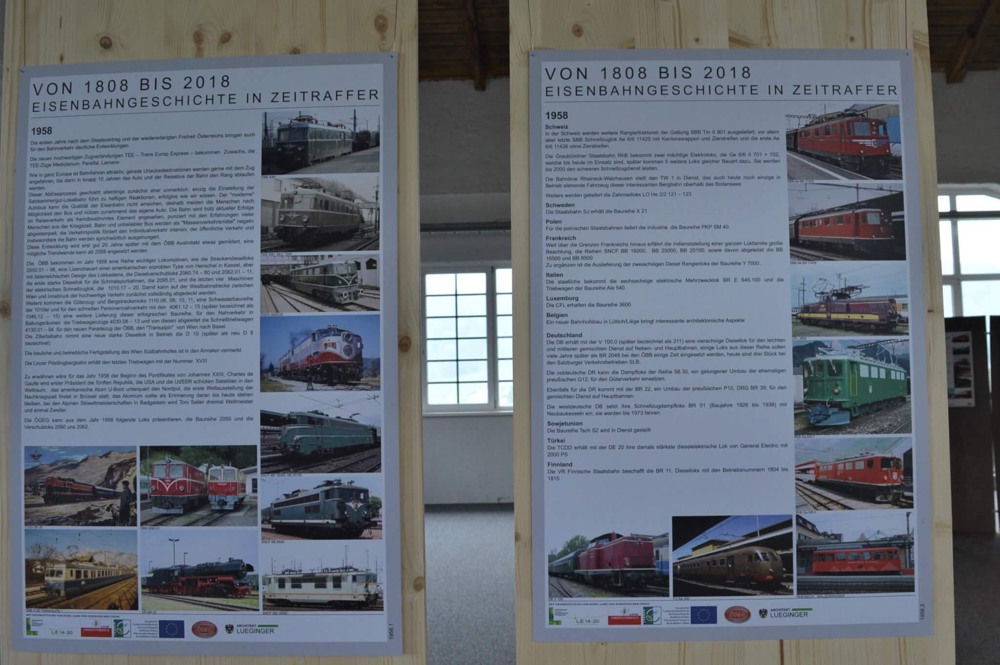 Sonderausstellung Eisenbahngeschichte der 8er Jahre