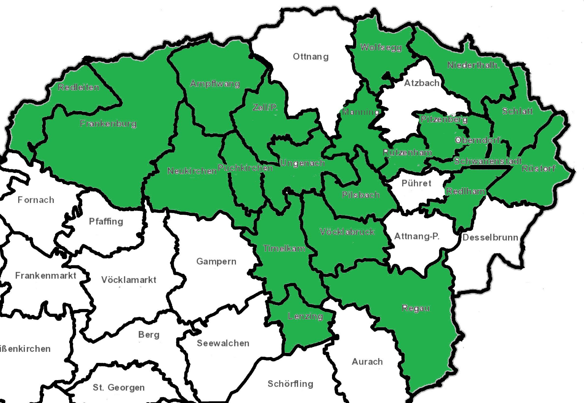 Karte Gemeinden