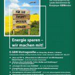 Plakat EGEM Vortragsreihe